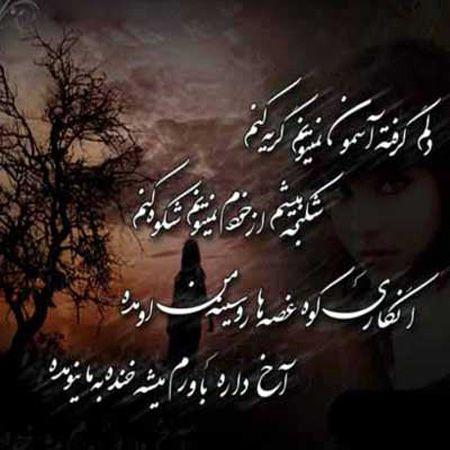 عکس نوشته دلم گرفته