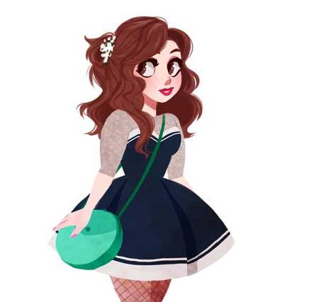 عکس پروفایل فانتزی دخترانه شاد
